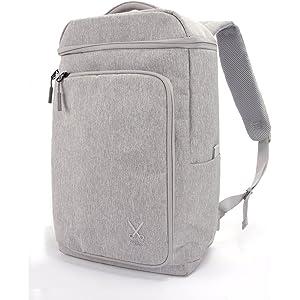 【イタリア発/デザインx機能】 PHILO 多機能 バックパック usbポート リュック 防水 backpack 通勤 通学 旅行 Light Grey