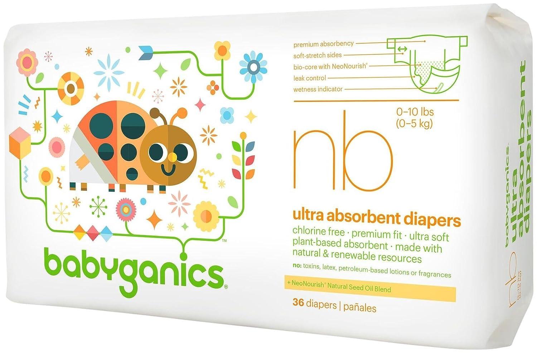 BabyGanics pañales - recién nacidos - 36 ct: Amazon.es: Bebé
