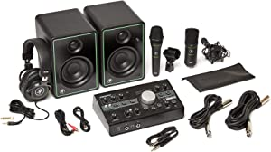 Mackie Studio Bundle with CR3-X monitors, Big Knob Studio Monitor Controller/Interface, EM89D Dynamic Microphone, EM91C Condenser Microphone and MC-100 Headphones