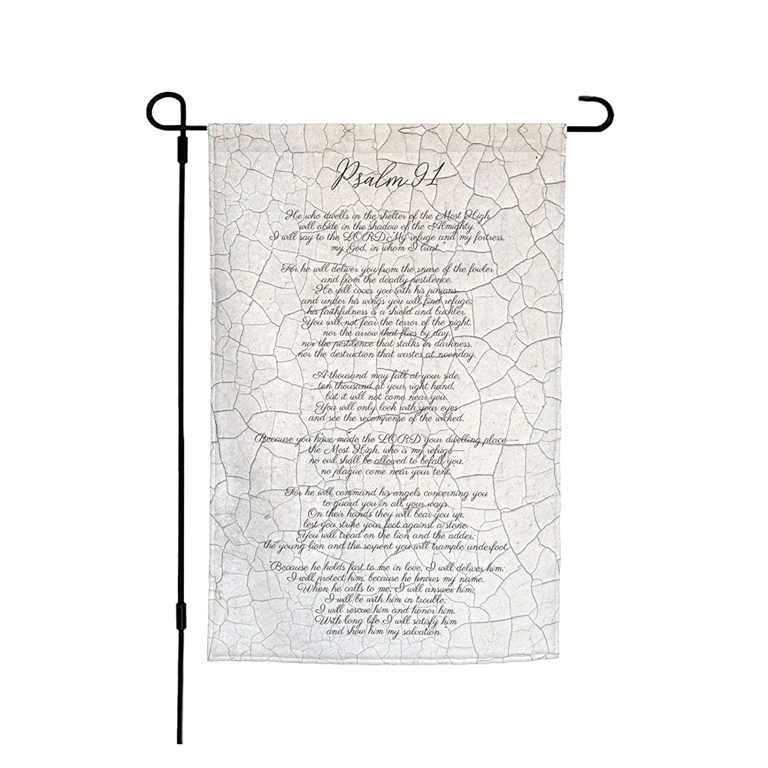 Psalm 91 He Will Cover You With His Feathers Bible Verse Christian Garden Flag Foot Spring Outside Outdoor Indoor House Room Decoration Banner - Canvas Header And Double Stitched 12x18inch
