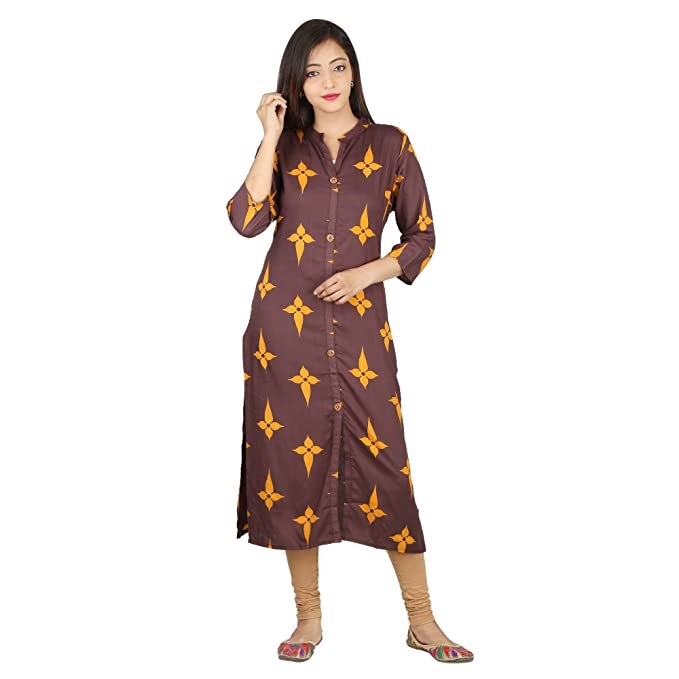 524acae39d06 MOLI Women's Rayon Front Button Kurti: Amazon.in: Clothing & Accessories