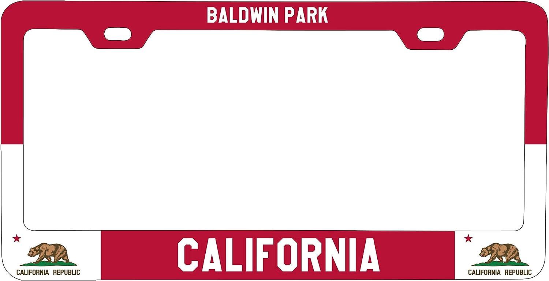 Chawuux Baldwin Park California Metal License Plate Frame