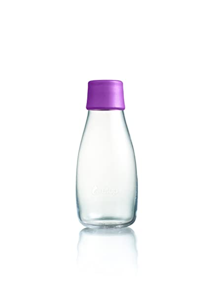 Retap ApS 0,8 L Botella de Agua de Vidrio de borosilicato, Vidrio,