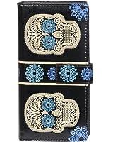 New Woman's Large Zipper Wallet By Shagwear Black Skull