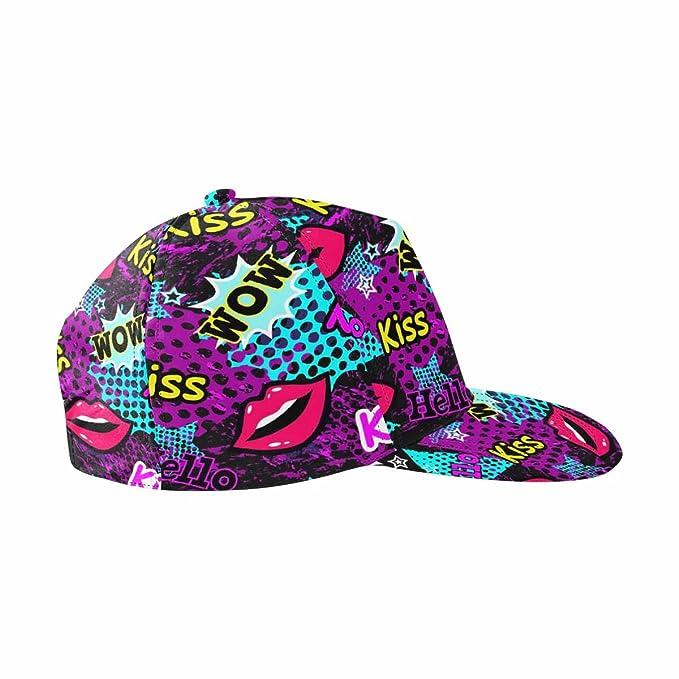 INTERESTPRINT Mosaic Colorful Snapback Hats for Men Hip Hop Hats ... 99b06e3128d