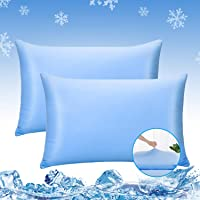 LUXEAR Pillowcases, 2 Pack Cooling Pillowcases Fit Pillows with Japanese Cooling Fiber, Ultra-Elasticity & Soft, Cooling…
