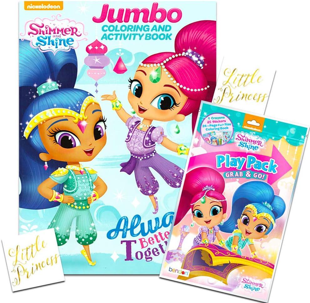 Amazon Com Shimmer And Shine Coloring Book Bundle Set 2 Books