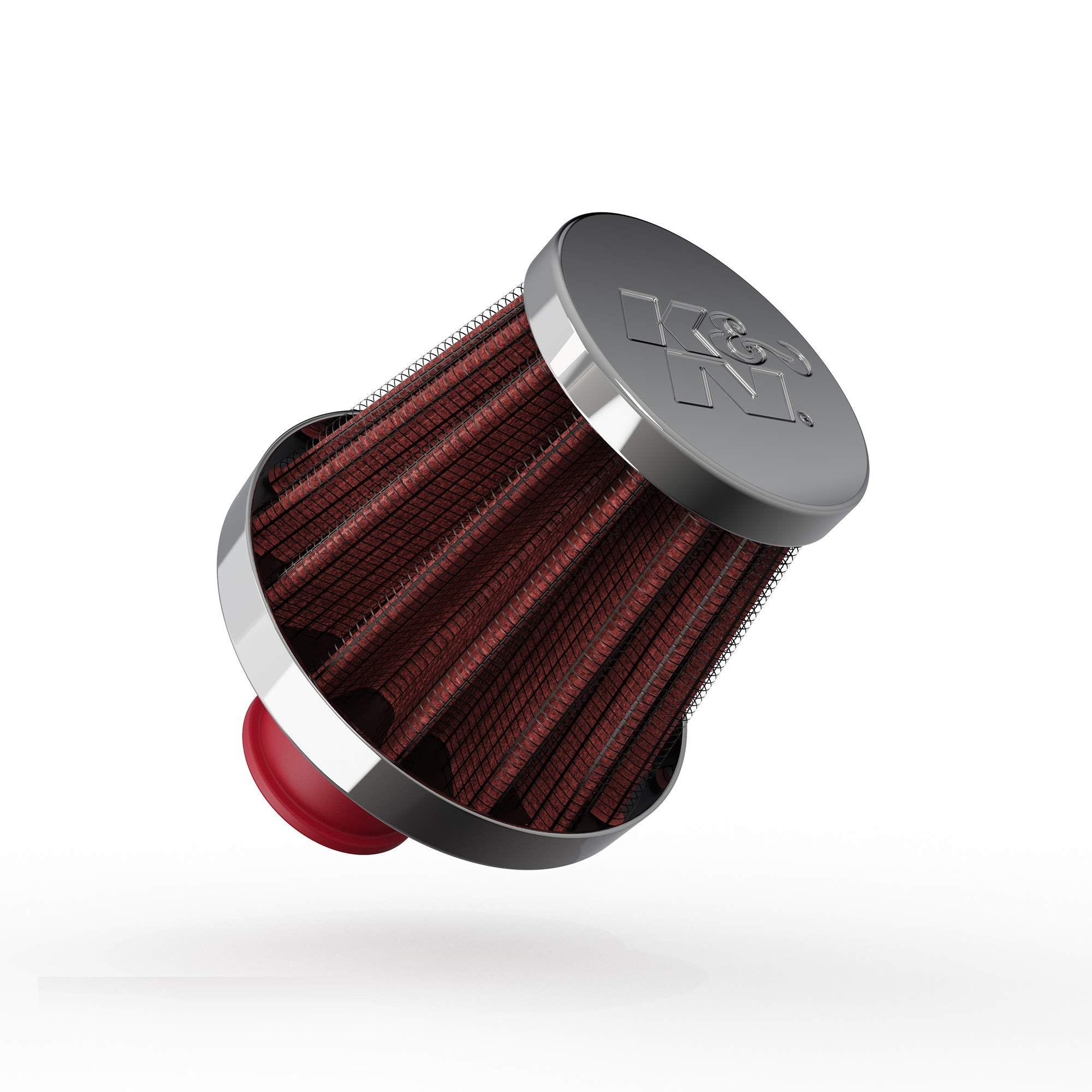 K&N Vent Air Filter/Breather: High Performance, Premium, Washable, Replacement Engine Filter: Flange Diameter: 0.375 In, Filter Height: 1.75 In, Flange Length: 0.5 In, Shape: Breather, 62-1600RD