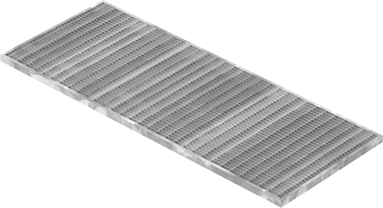 Fenau | Caillebotis/Grille conforme aux normes de l'industrie du bâtiment, Dimensions : 390 x 890 x 20 mm, Dimensions du maillage: 30/10 mm, galvanisée, cadre: 400 x 900 x 23 mm)