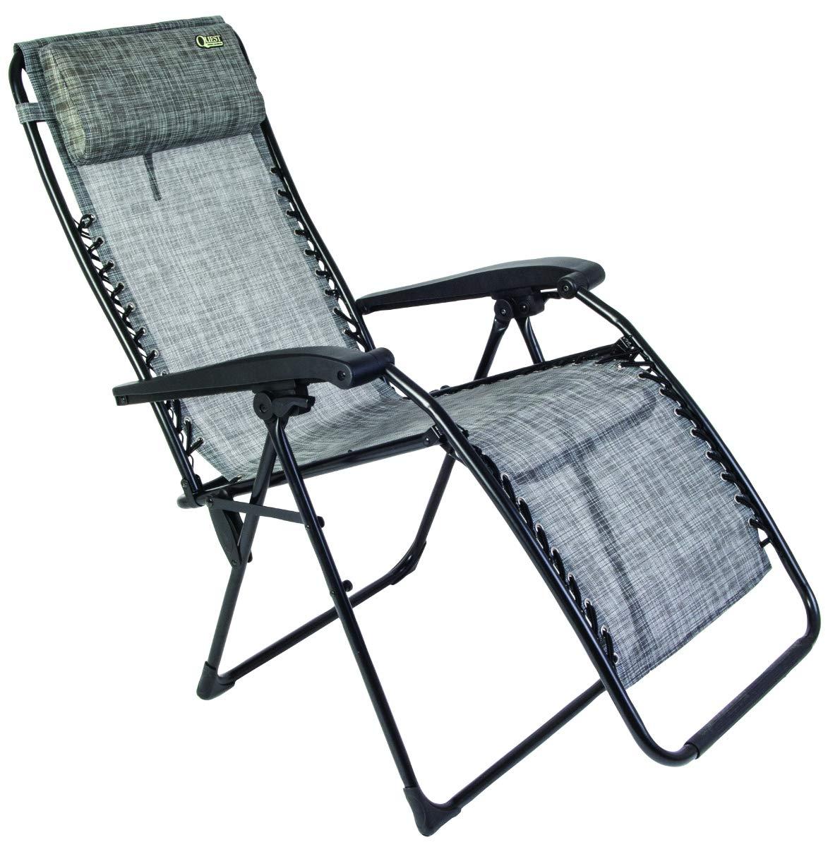 Quest Breeze Range Hampton Outdoor Stylish Garden Sun Relaxer Chair In Grey