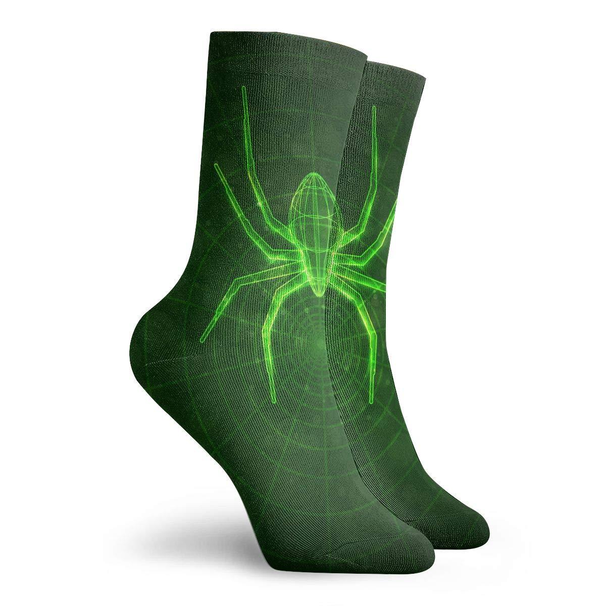 SESY Spider Web Glow In The Dark Unisex Crew Socks Short Sports Stocking