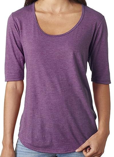 ec0824c58695ae Amazon.com  Yoga Clothing For You Ladies Elbow Length Scoop Neck Tee Shirt   Clothing
