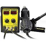 NRG Clever® KSS968D Station de soudage avec le fer à dessouder, soufflage d'air chaud. Double affichage numérique température réglable