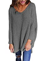 RooZooe Women's Long Sleeve Round Neck Blouse Regular Knit Pullover Top