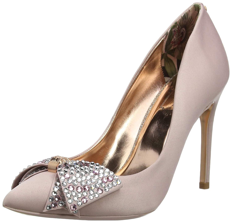 Ted Baker Women's Aselly Satin Embellished Slip On High Heel Pink