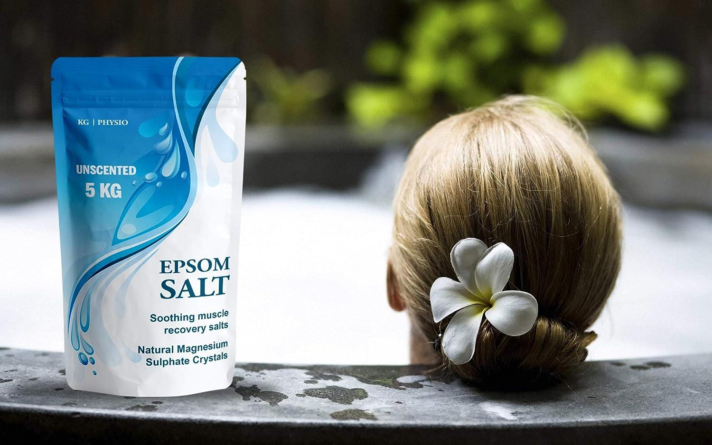 Sales Epsom de 5 kg por KG ~ PHYSIO puro magnesio utilizado para recuperación muscular y relajación 4 olores disponibles. Inc. Lavendar, Rosemary y ...