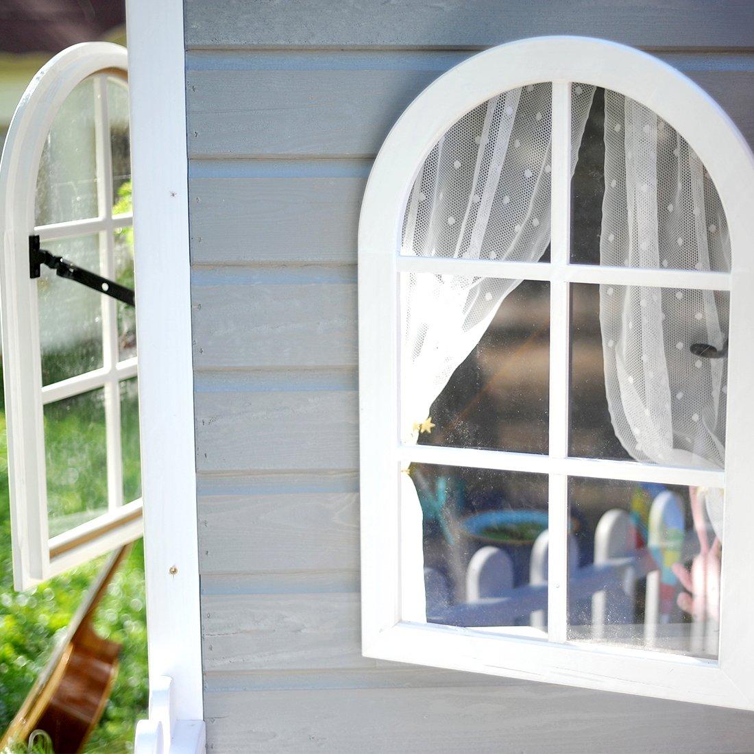 Green House Casa de Madera para Niños con terraza AVA: Amazon.es: Juguetes y juegos