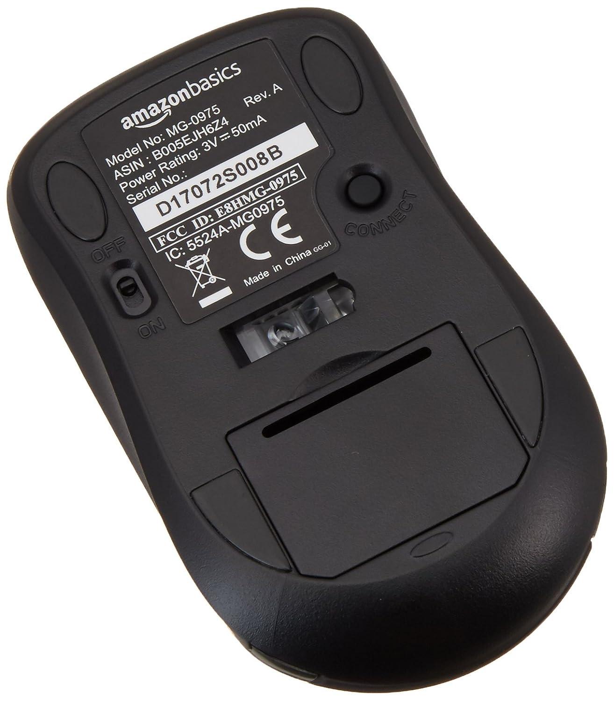 6cb84d21a8e Amazon.com: AmazonBasics Wireless Computer Mouse with Nano Receiver:  Electronics