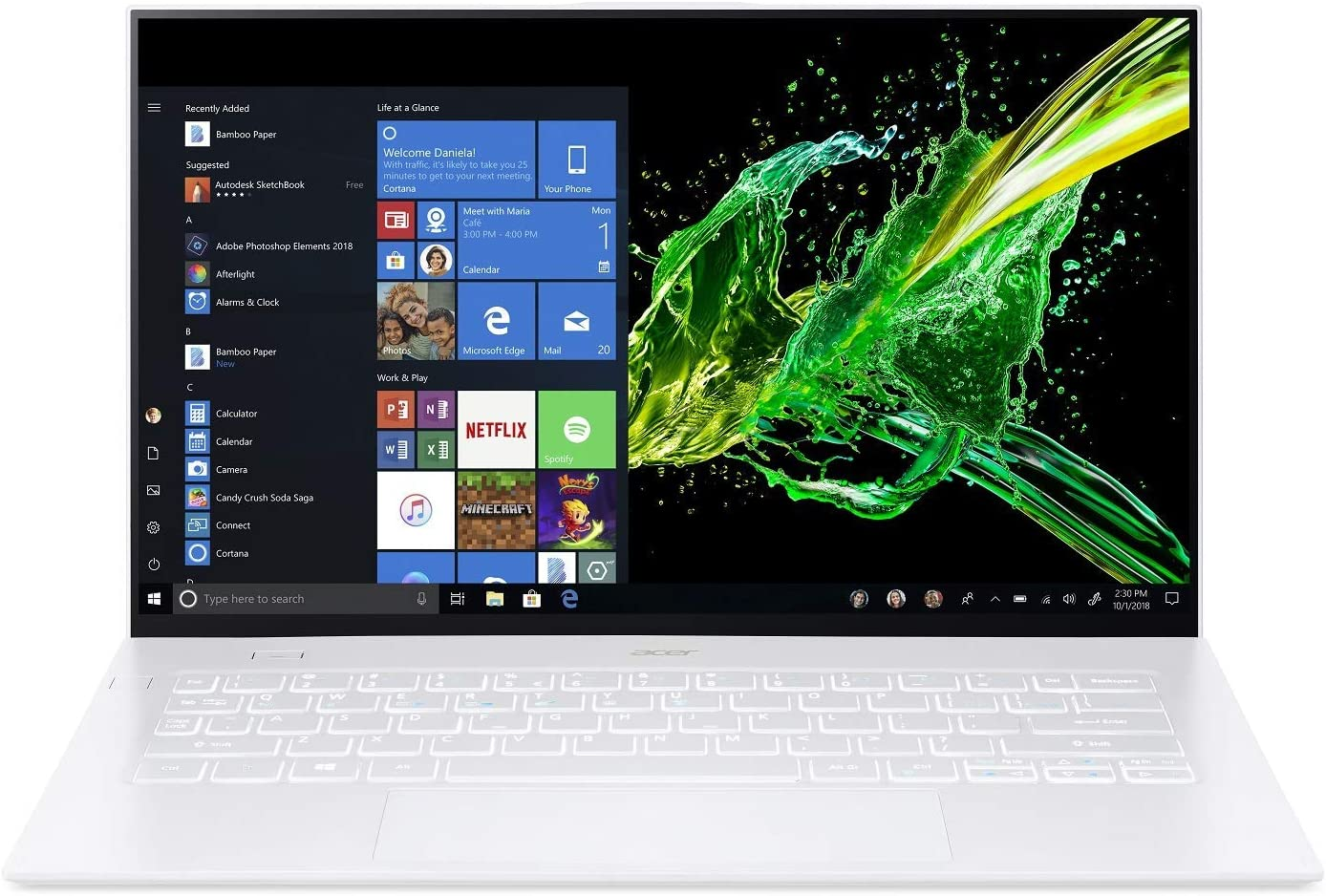 "Acer Swift 7 14"" FHD IPS Touch Display Intel i7-8500Y, 16GB LPDDR3, 512GB PCIe NVMe SSD, Back-lit Keyboard, Windows 10 - SF714-52T-73CQ (Renewed)"