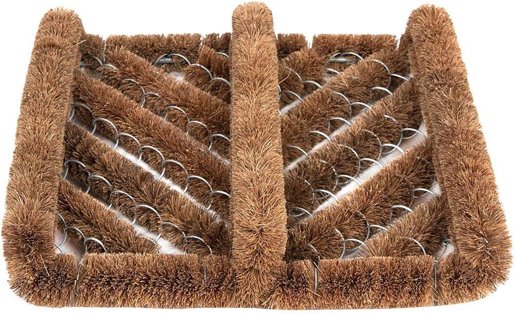 Ninamar Natural Coir Boot Scrubber Door Mat - 12 x 13 inch