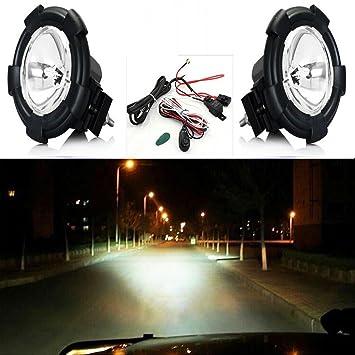 85c2708338d4 2 pcs 4 Inch H3 12V 55W 6000K HID Xenon Off-road Driving Spot Lamp Spot  Light Spot Beam Light for 4WD UTE WORK  Amazon.co.uk  Car   Motorbike