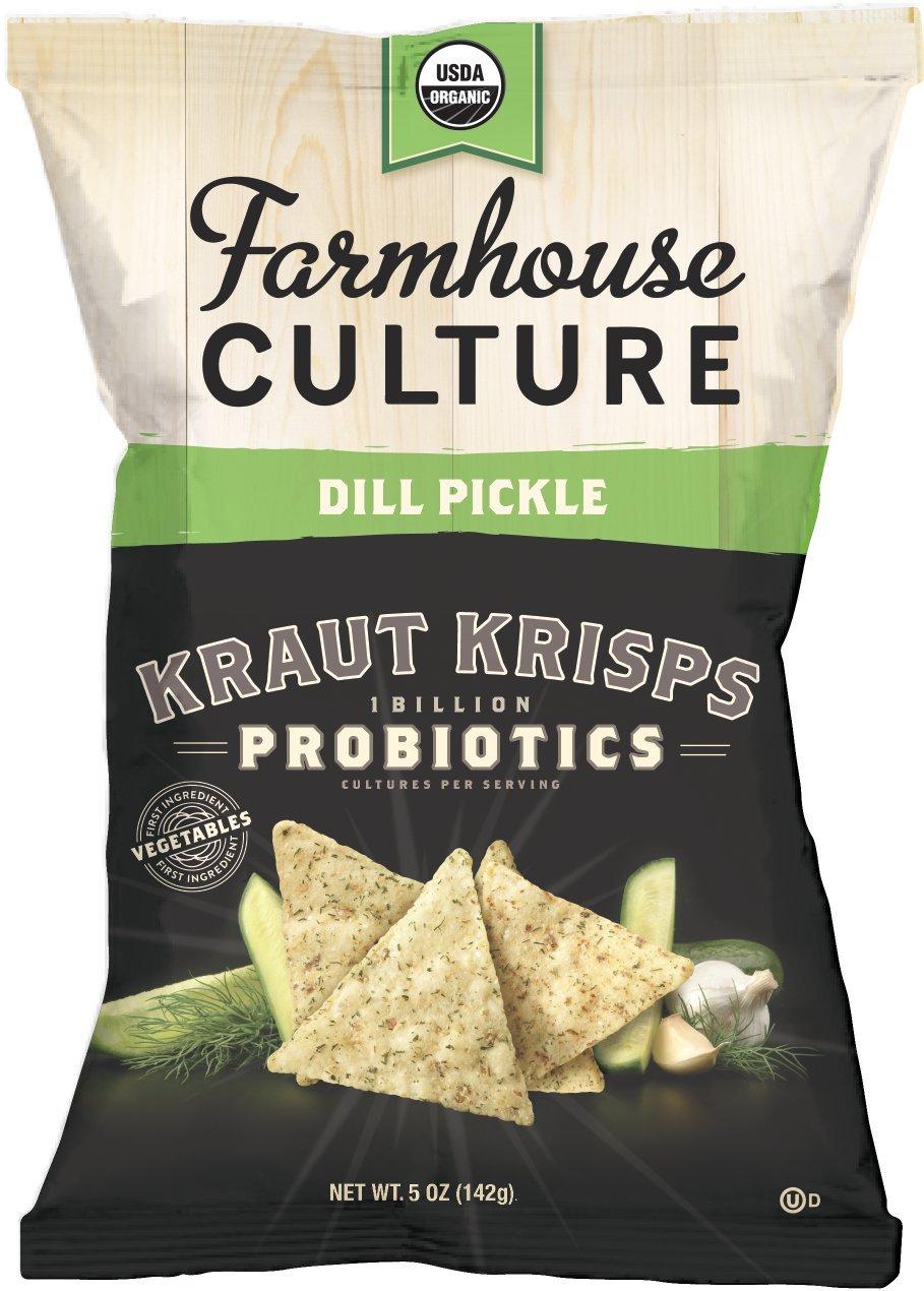 Farmhouse Culture Kraut Krisps, Dill Pickle, 5 oz. Bags, 4 Count