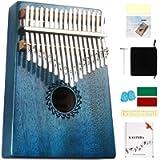 Kalimba Thumb Piano 17 Keys with mahogany Wood Portable Mbira Finger Piano Gifts for Kids and piano Beginners…