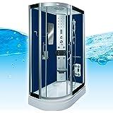 AcquaVapore DTP8060-7201L Dusche Duschtempel Komplett Duschkabine -Th. 120x80, EasyClean Versiegelung der Scheiben:Nein! +0.-EUR