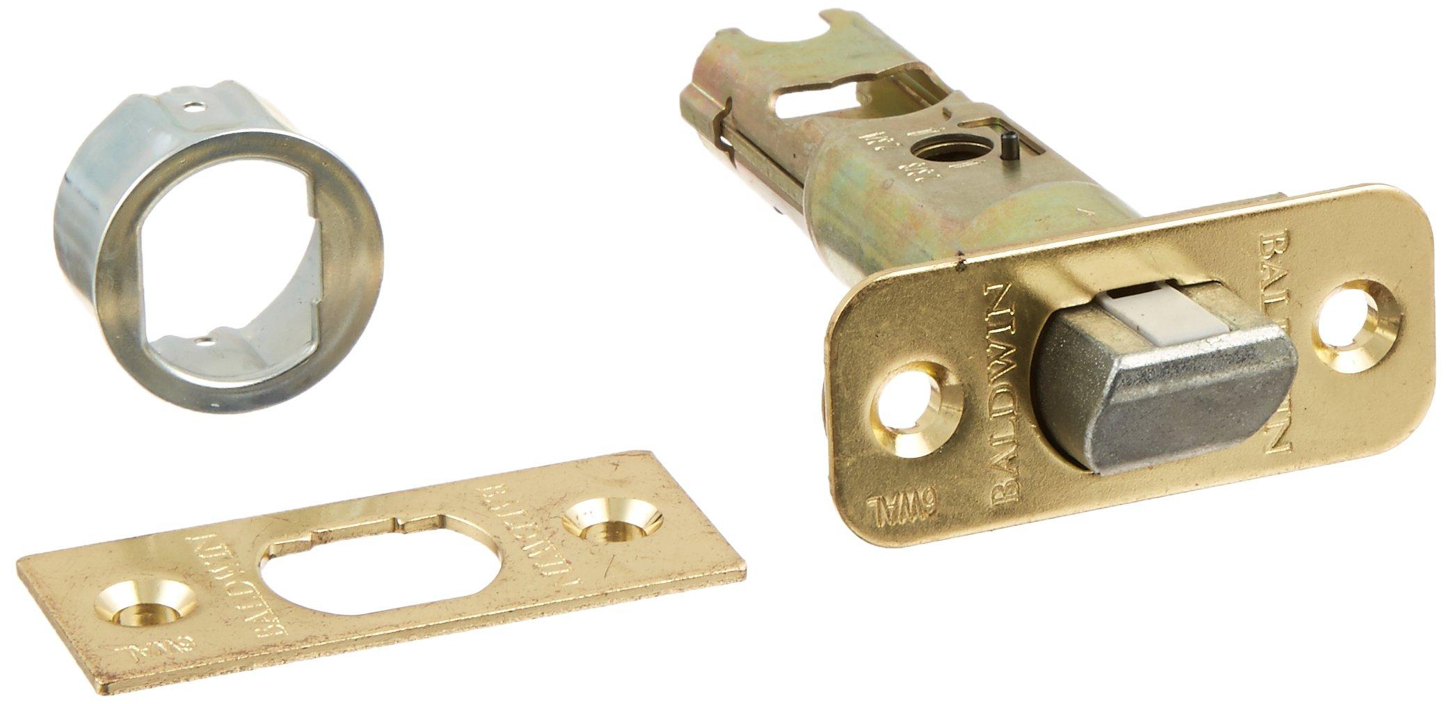 Kwikset 43034 6WAL PL SC 3 6-Way Adjustable Plain Latch in Polished Brass