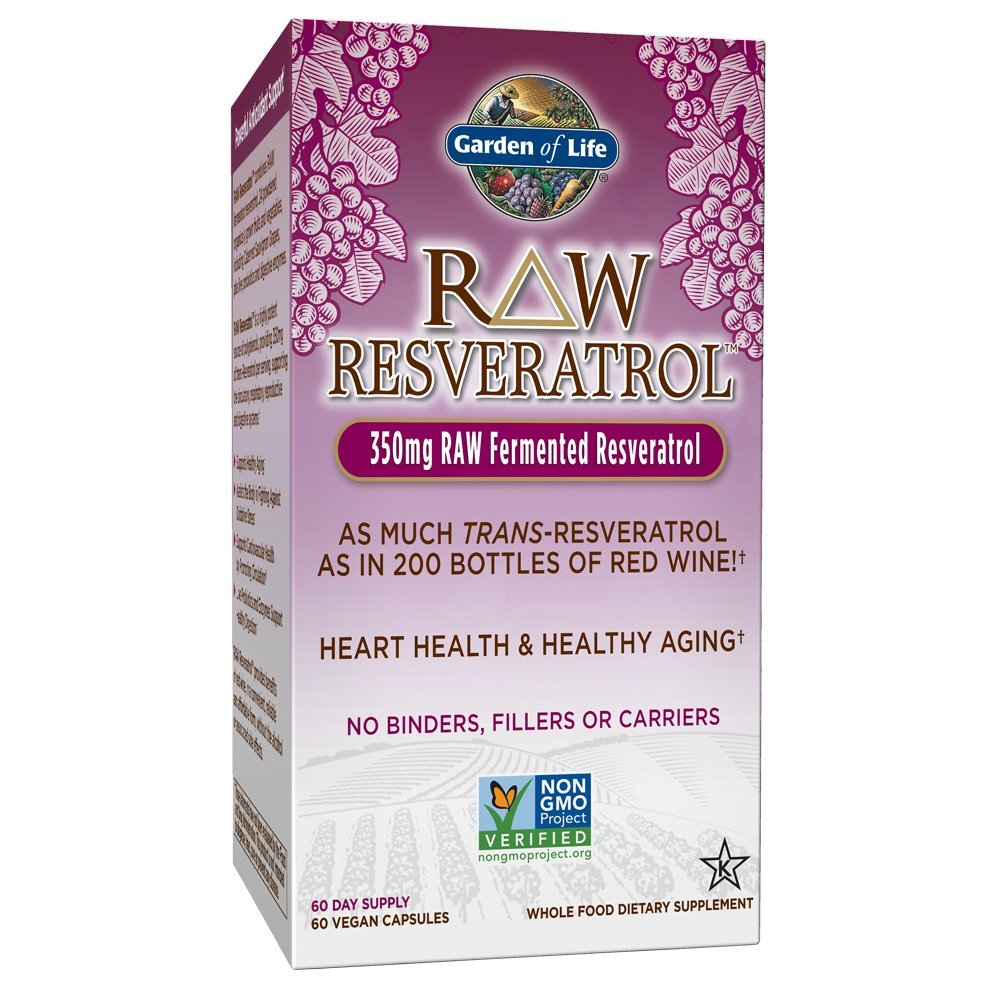 Garden of Life Heart Resveratrol Supplement - Raw Whole Food Antioxidant Formula for Heart Health, 60 Capsules by Garden of Life