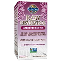 Garden of Life Heart Resveratrol Supplement - Raw Whole Food Antioxidant Formula for Heart Health, 60 Capsules
