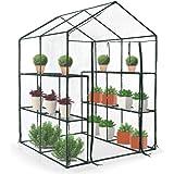 Jago – Invernadero con cubierta para jardín, terraza, balcón o patio – tamaño (L/An/Alt) aprox. 143/142,5/197 cm - modelo a elegir