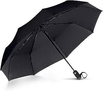 VAN BEEKEN Umbrella Windproof - Wind Resistant Travel Umbrella with Teflon - Light Compact Automatic Umbrella - Portable Folding Umbrella for Men Women
