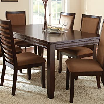 Steve Silver Cornell Dining Table With 18 Inch Extension Leaf Espresso