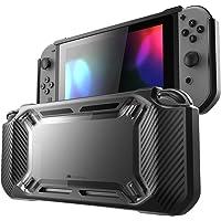 Mumba Funda Nintendo Switch, Carcasa [Hard Duty] Slim Rubberized [Snap on] rígido Case para la versión de Nintendo Switch 2017 (Negro)