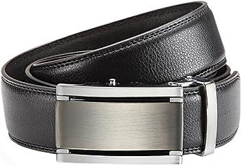 Eg-Fashion Herren Anzug Gürtel mit Automatikschließe 3,5 cm Breite - Echtleder Gürtel - Stufenlos verstellbar