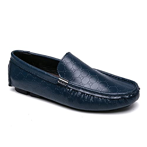 01cd22d16e6a9a Esthesis Hombre Zapatos Casuales Mocasines de Cuero Genuino Mocasines Slip  On Boat Zapatos: Amazon.