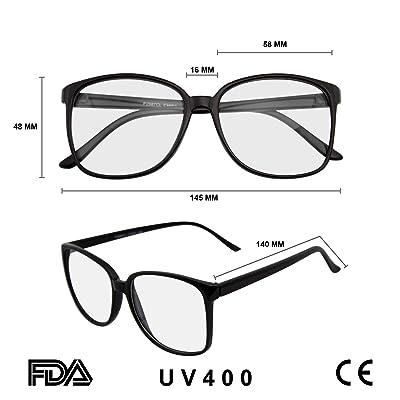 Large Oversized ROUND Glasses Horn Clear Lens Thin Frame Nerd Glasses Mens Women