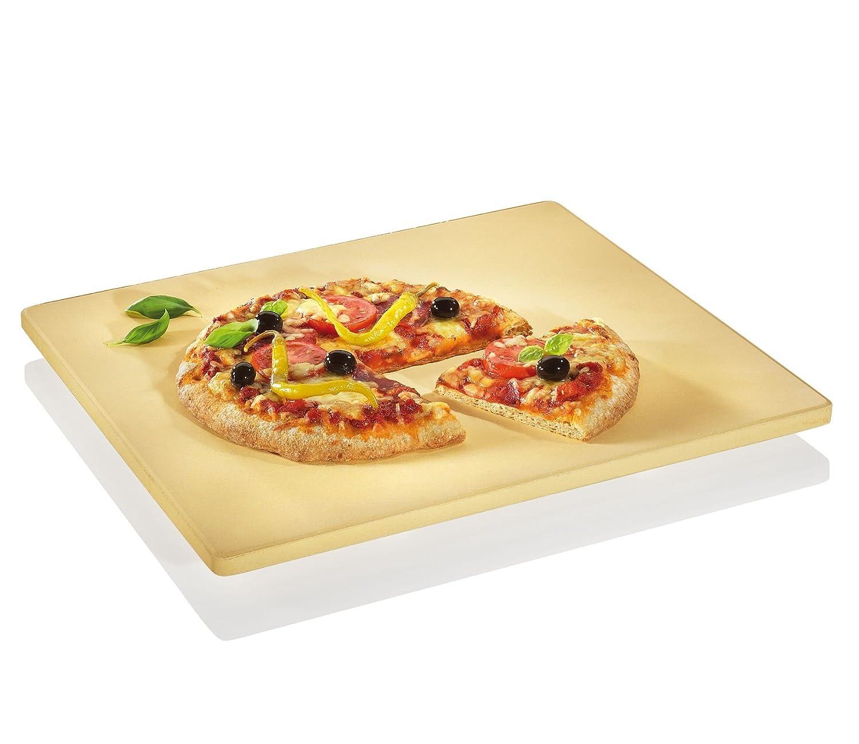 Küchenprofi 1086150040 Rectangular Pizza Stone with Foot