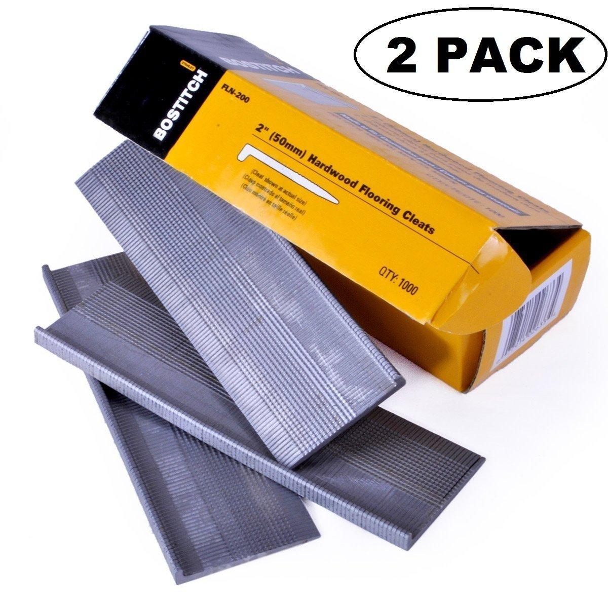 2 PACK BOSTITCH FLN-200 2-Inch Flooring L-Nail, 1000-Per Box