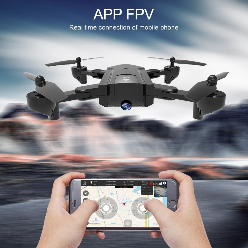 Lovewe SG900 RC Foldable Quadcopter 2.4GHz WIFI FPV GPS Fixed Point Drone for Kids and Beginners With 720P/1080P HD Camera, One Key Return (720P) by Lovewe_Drone (Image #7)
