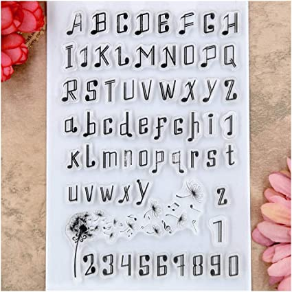 Kwan Crafts Letters Alphabet Clear Stamps for Card Making Decoration and DIY Scrapbooking