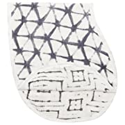 "aden + anais Silky Soft Burpy Bib, 100% Viscose bamboo Muslin, Soft Absorbent 4 Layers, Multi-Use Burp Cloth and Bib, 22.5"" X 11"", Single, Pebble Shibori"