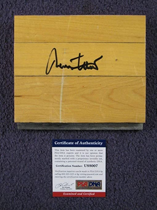 John Havlicek Autographed Signed Boston Garden Parquet Floor Piece