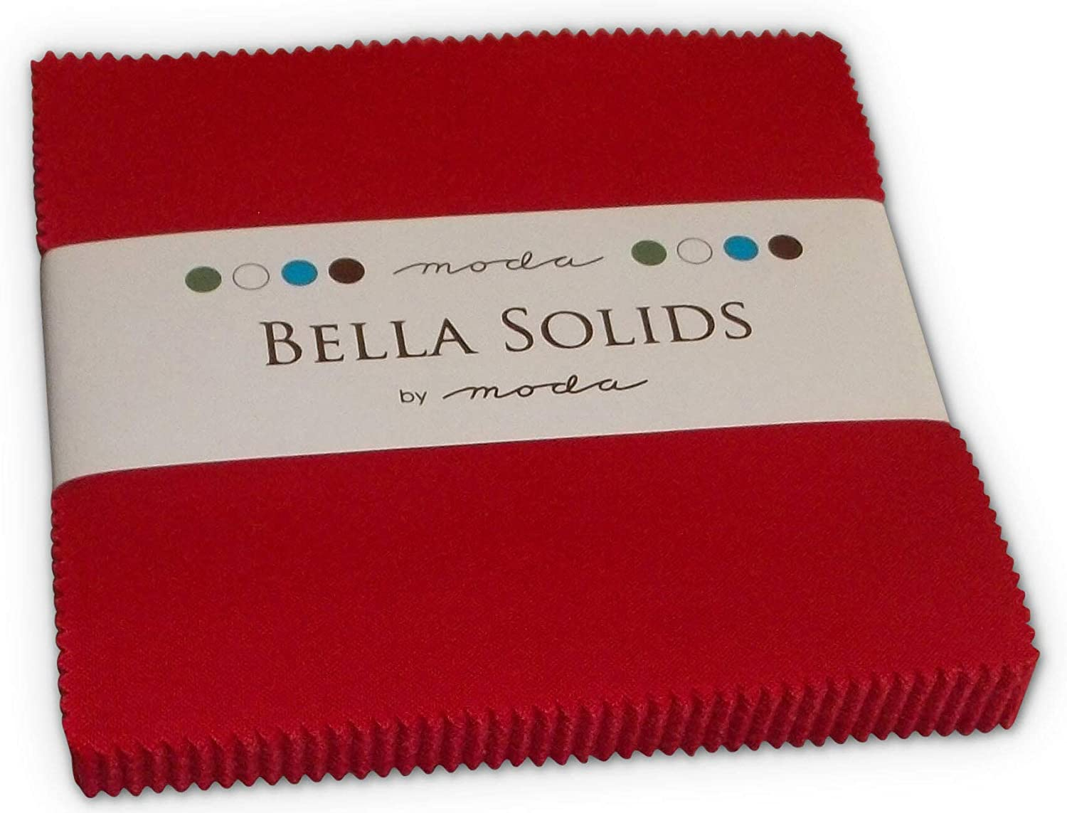 12.7cm Precut Cotton Fabric Squares Set of 42 5-inch Moda Basics Bella Solids 30s Colors Charm Pack