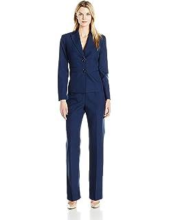c65000f26a Amazon.com: Le Suit Women's 2 Button Black Pant Suit: Clothing