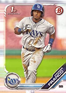 2019 Bowman Prospects Baseball #BP-100 Wander Franco Pre-Rookie Card - 1st Bowman Card