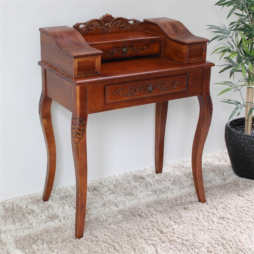 Hand Carved Wood Victorian Telephone Table