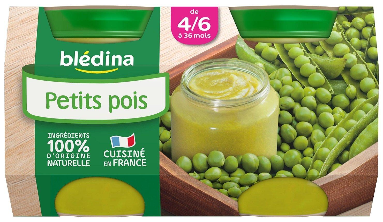 Blé dina Mon 1er Petit Pot Petits Pois dè s 4/6 mois 2 x 130 g - Pack de 12 BLEDINA 3041091022844