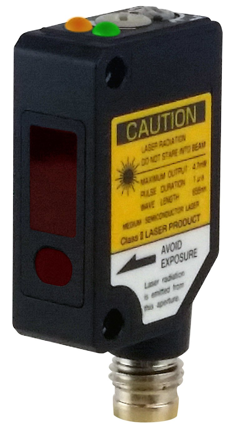 Optex FA 100mm background suppression laser beam photoelectric sensor PNP output M8 4 pin QD